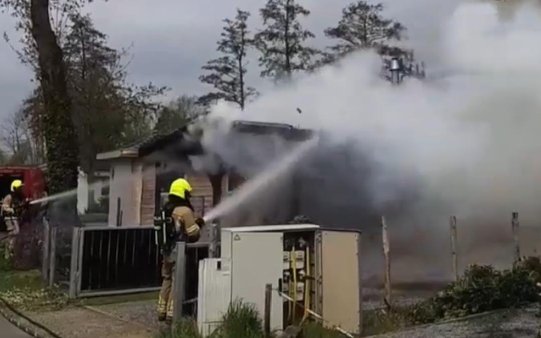 Chalet op vakantiepark Hommelheide Susteren verwoest na brand