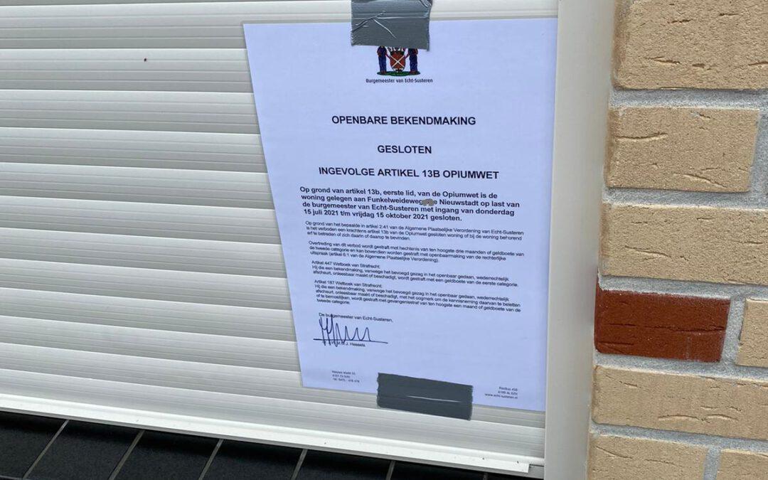 Twee hennepwoningen in Nieuwstadt gesloten